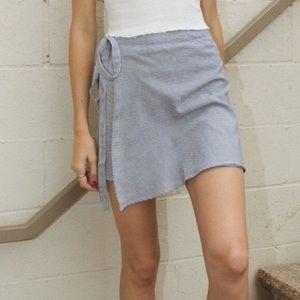 BRANDY MELVILLE striped wrap skirt
